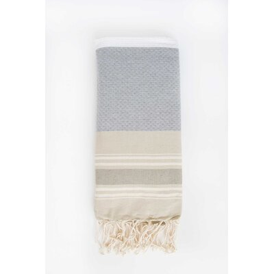 Hudgens Honeycomb Weave Bath Towel (Set of 2) Color: White