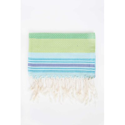 Hudgens Honeycomb Weave Bath Towel (Set of 2) Color: Turquoise
