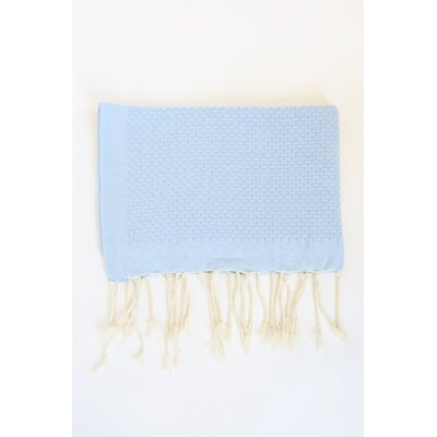 Hudgens Honeycomb Weave Bath Towel (Set of 2) Color: Azur