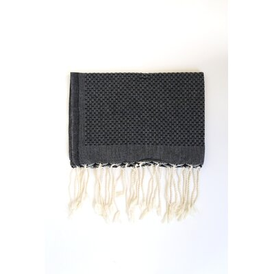 Hudgens Honeycomb Weave Bath Towel (Set of 2) Color: Black