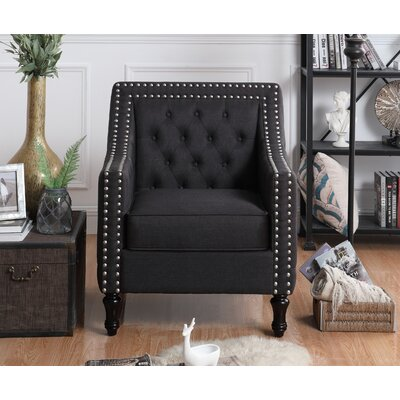 Cash Arm Chair Upholstery: Charcoal