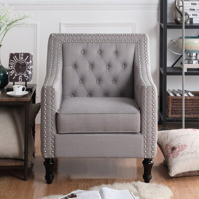 Cash Arm Chair Upholstery: Gray