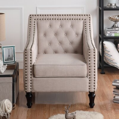 Cash Arm Chair Upholstery: Beige