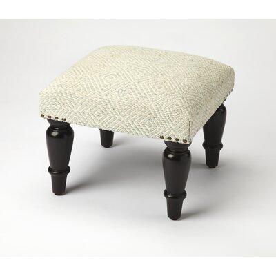 Samina Ottoman Upholstery: Beige, Finish: Black