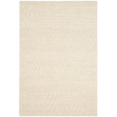 Bathild Hand-Tufted Ivory Area Rug Rug Size: Rectangle 5 x 8