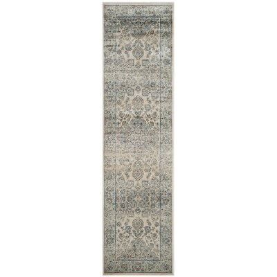 Persian Garden Vintage Ivory/Light Blue Area Rug Rug Size: Runner 22 x 8
