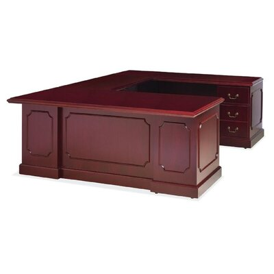 Hamlet File Drawer U Shape Executive Desk Orientation Product Picture 6659