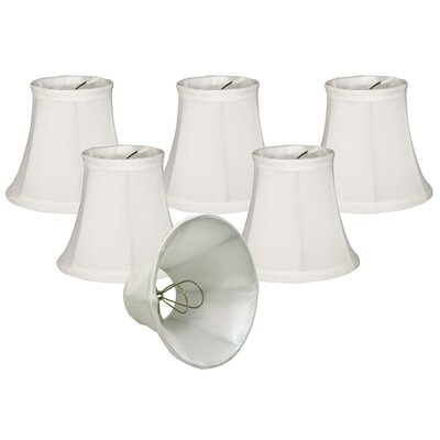 5 Silk/Shantung Bell Candelabra Shade Color: White