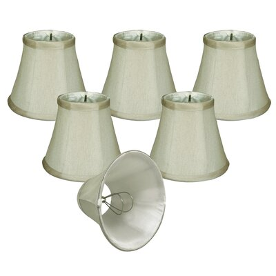 5 Silk/Shantung Bell Candelabra Shade Color: Gray