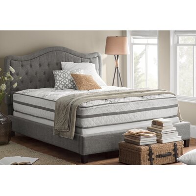 Turin Upholstered Panel Bed Size: Twin, Color: Gray, Upholstery Type: Other