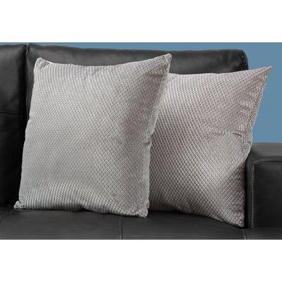 Alfonso Throw Pillow Color: Silver