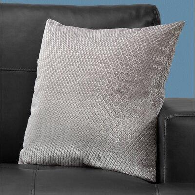 Alfonso Throw Pillow Color: Silver