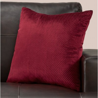 Alfonso Throw Pillow Color: Burgundy