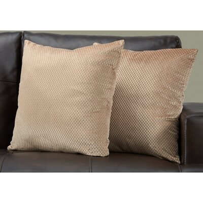 Alfonso Throw Pillow Color: Beige