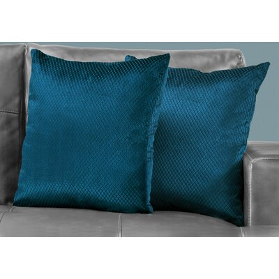 Alfonso Throw Pillow Color: Blue