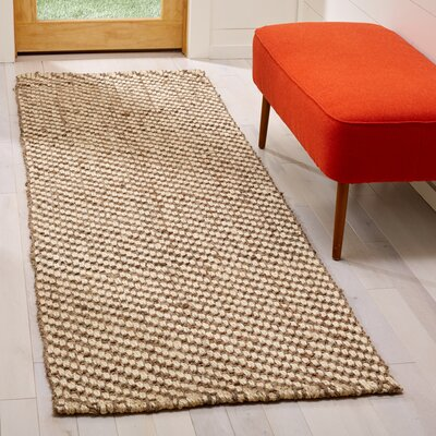 Hand Woven Area Rug Rug Size: Runner 26 x 8