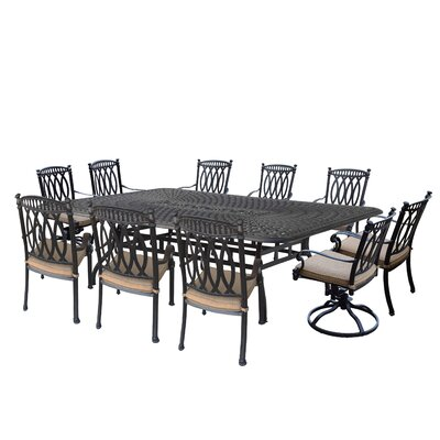 Impressive Otsego Aluminum Dining Set Cushions Table - Product picture - 2280