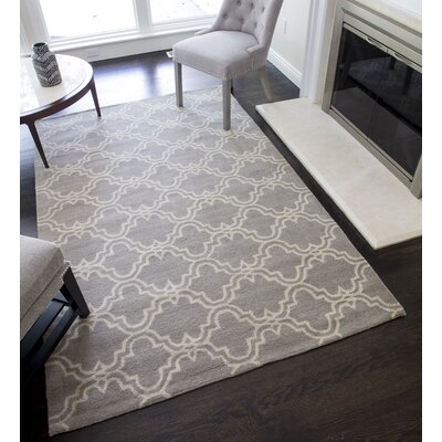 Blondelle Geometric Hand-Tufted Wool Slate Area Rug Rug Size: 5' x 8'