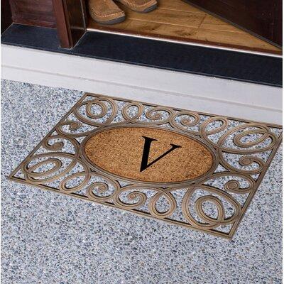 Baggs Monogrammed Doormat Letter: V
