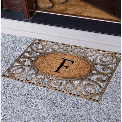Baggs Monogrammed Doormat Letter: F