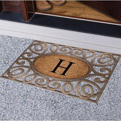 Baggs Monogrammed Doormat Letter: H