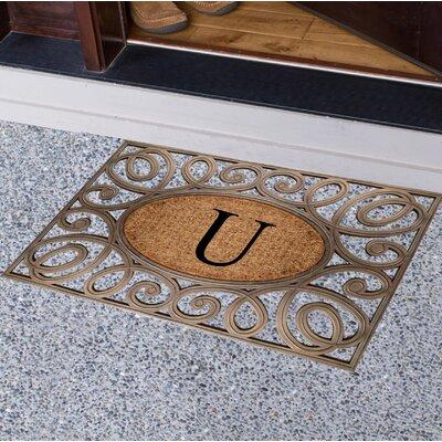 Baggs Monogrammed Doormat Letter: U