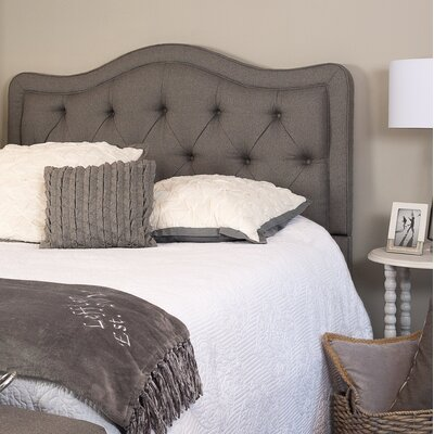 Bromberg Upholstered Panel Headboard Size: King, Upholstery: Brown