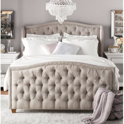 Kattan Queen Upholstered Panel Bed Color: Silver Grey