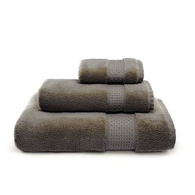 Bell 3 Piece Cotton Towel Set Color: Brown