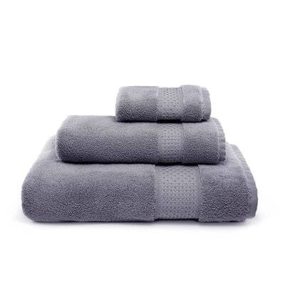 Bell 3 Piece Cotton Towel Set Color: Gray