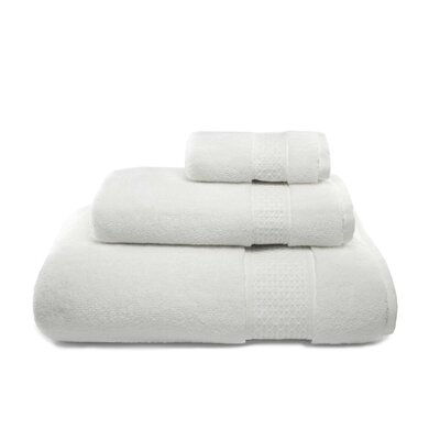 Bell 3 Piece Cotton Towel Set Color: White