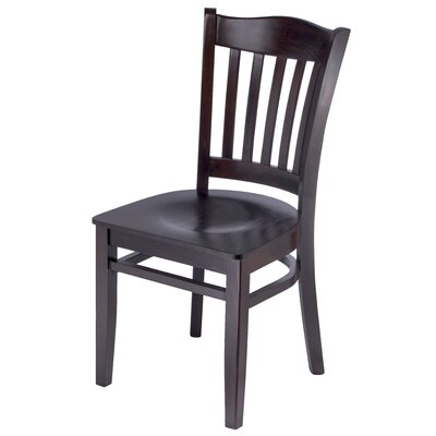 Darlington Slat Back Solid Wood Dining Chair Finish: Walnut