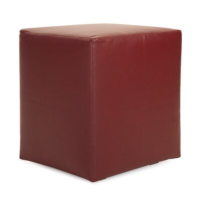 St James Cube Ottoman Upholstery: Apple - Red