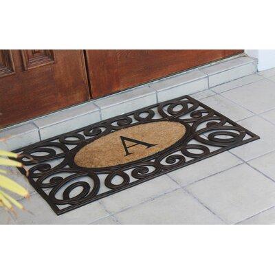 Baggs Monogrammed Doormat Letter: A