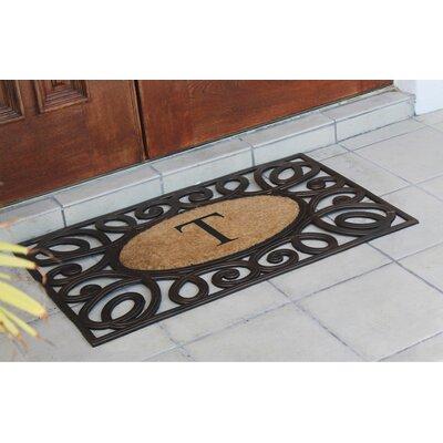 Baggs Monogrammed Doormat Letter: T