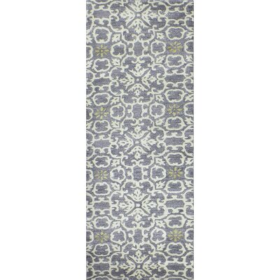 Danforth Hand-Tufted Light Grey Area Rug Rug Size: Runner 26 x 8