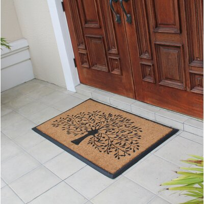 Norwich Tree Doormat Rug Size: Rectangle 26 x 311