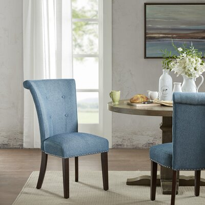 Olivier Side Chair Upholstery Color: Blue