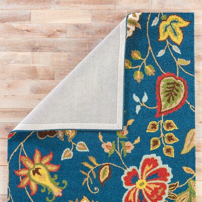 Gradall Hand-Tufted Wool Blue Area Rug Rug Size: Rectangle 8 x 8