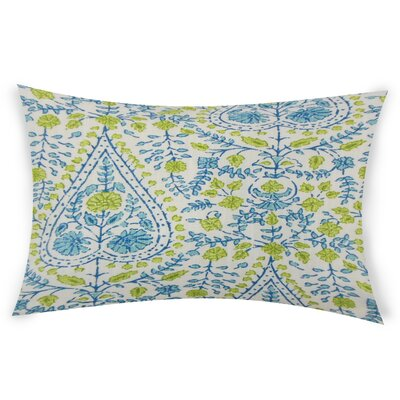 Zyra Down Filled 100% Cotton Lumbar Pillow Color: Aqua Green