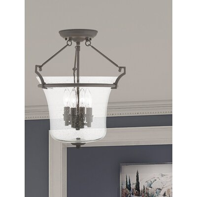 Richard 4-Light Semi-Flush Mount Finish: Bronze
