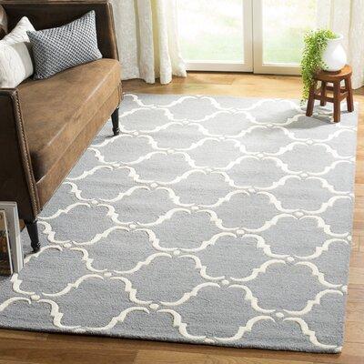 Cambridge Tufted Wool Dark Gray/Ivory Area Rug Rug Size: Rectangle 5 x 8