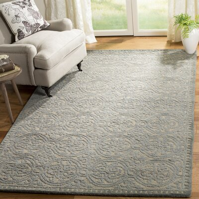 Cambridge Dusty Hand-Tufted Blue/Cement Area Rug Rug Size: Rectangle 5 x 8