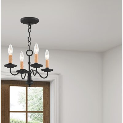 Eberhart Traditional 4-Light Candle-Style Chandelier