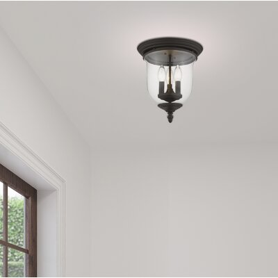 Sackler 3-Light Flush Mount Finish: Bronze