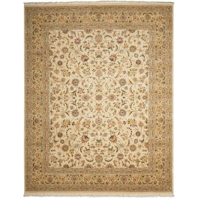 Franciscan Handmade Beige Area Rug Rug Size: Rectangle 79 x 99