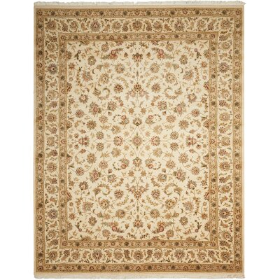 Bilbrey Handmade Ivory Area Rug Rug Size: Rectangle 7'9