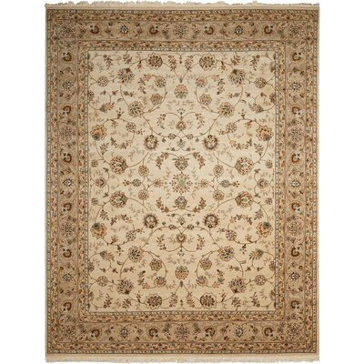 Bilbrey Handmade Beige Area Rug Rug Size: Rectangle 7'9