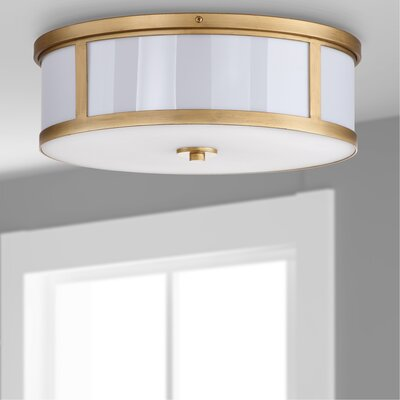 Atchley 2-Light Flush Mount Finish: Antique gold