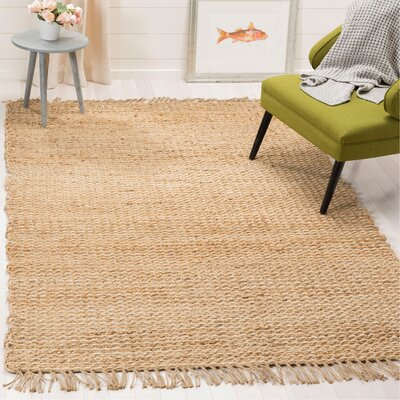 Hand-Woven Natural Fiber Area Rug Rug Size: Rectangle 5 x 8